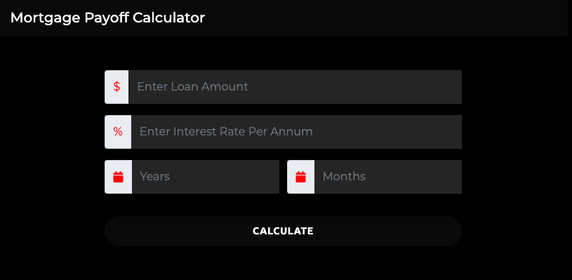 mortgage payoff calculator early