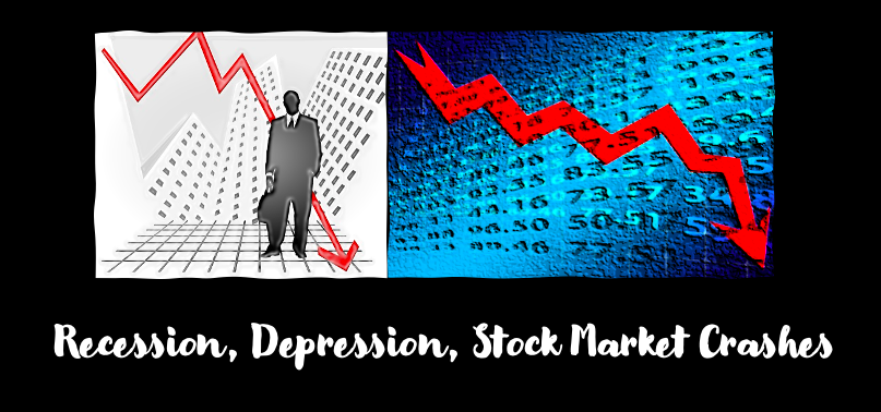 recession and stock market crashes