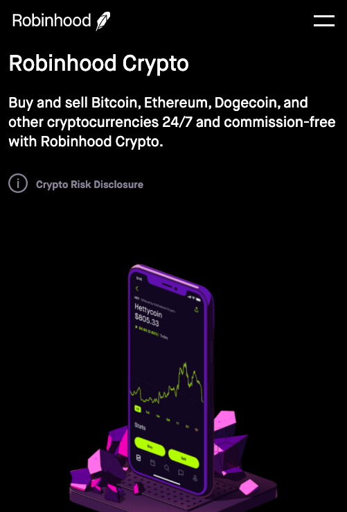 buy Bitcoin on Robinhood